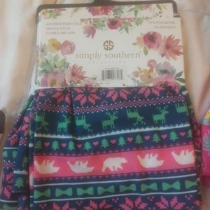 Simply Southern camper leggings nwt